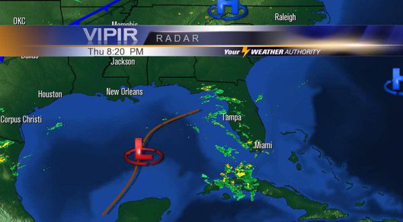 Tropical disturbance in the Gulf could develop
