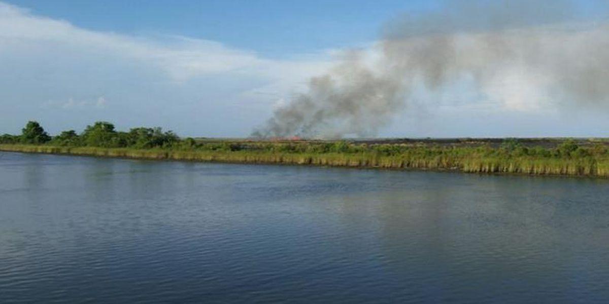 Drivers warned of haze from NOE marsh fire