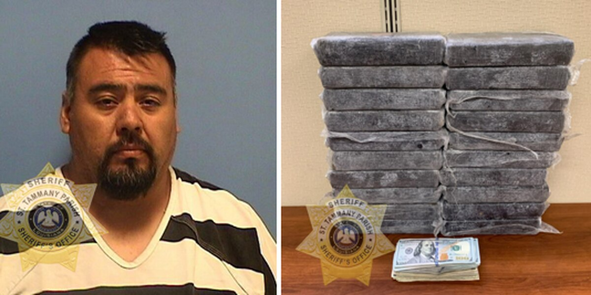 St. Tammany Parish deputies seize 54 pounds of cocaine during traffic stop