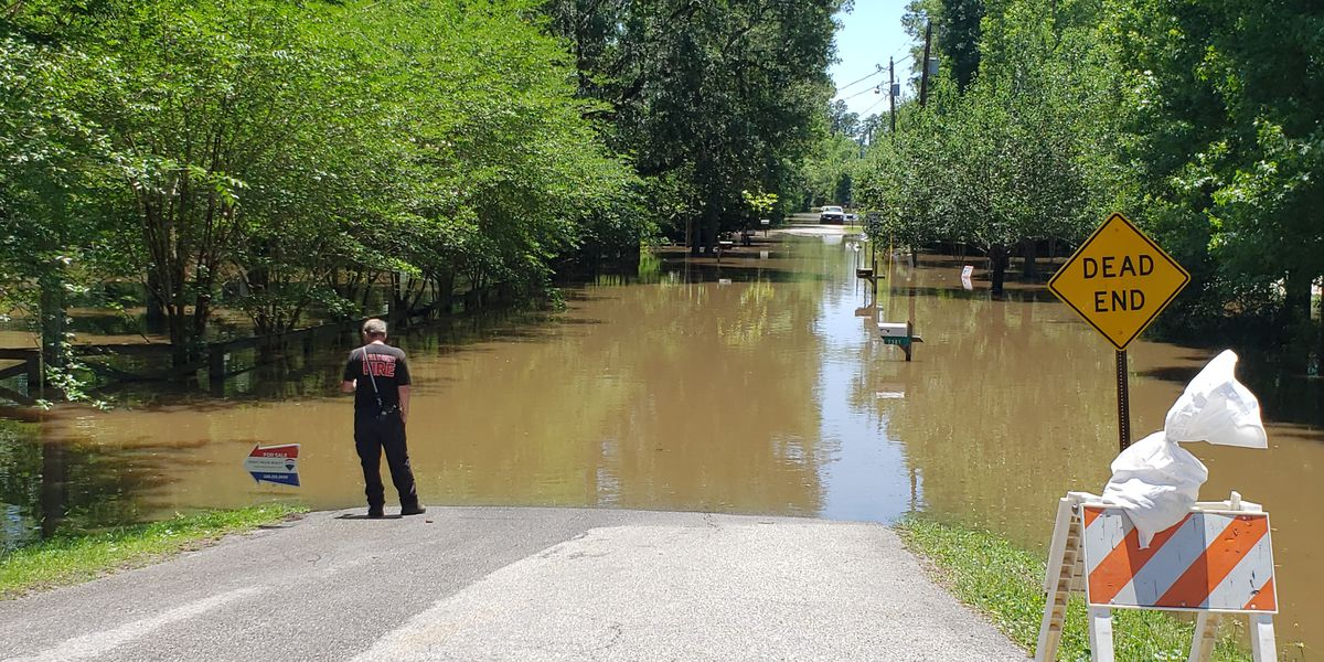 Wolf River floods major roadways, threatens homes