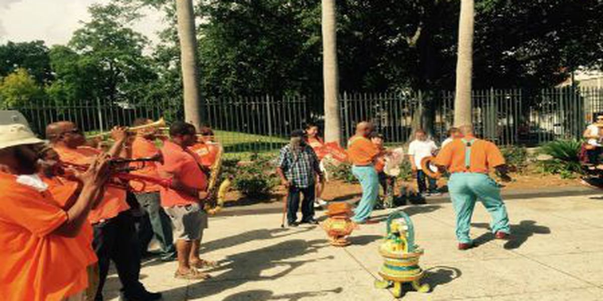 Second line held in Armstrong Park to call attention to gun violence