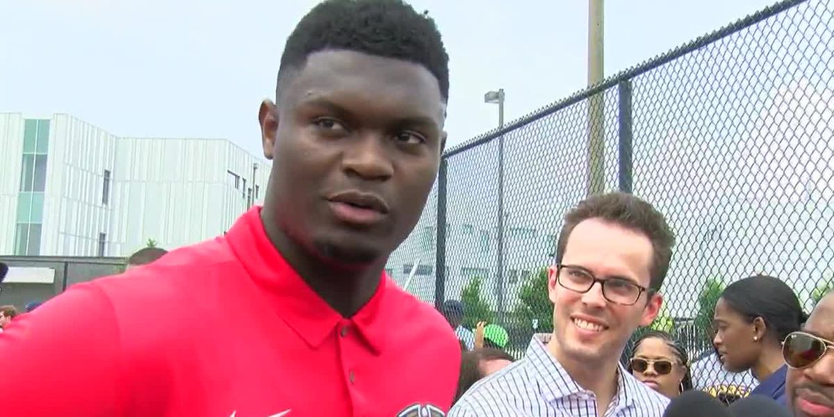 Zion Williamson helps unveil basketball court in New Orleans East