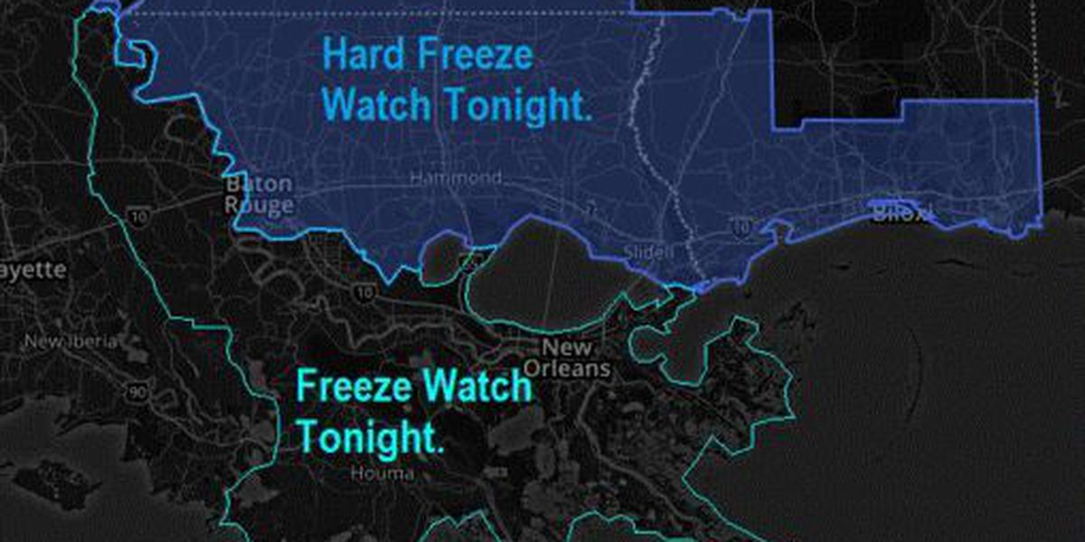 NWS warns freezing conditions coming overnight