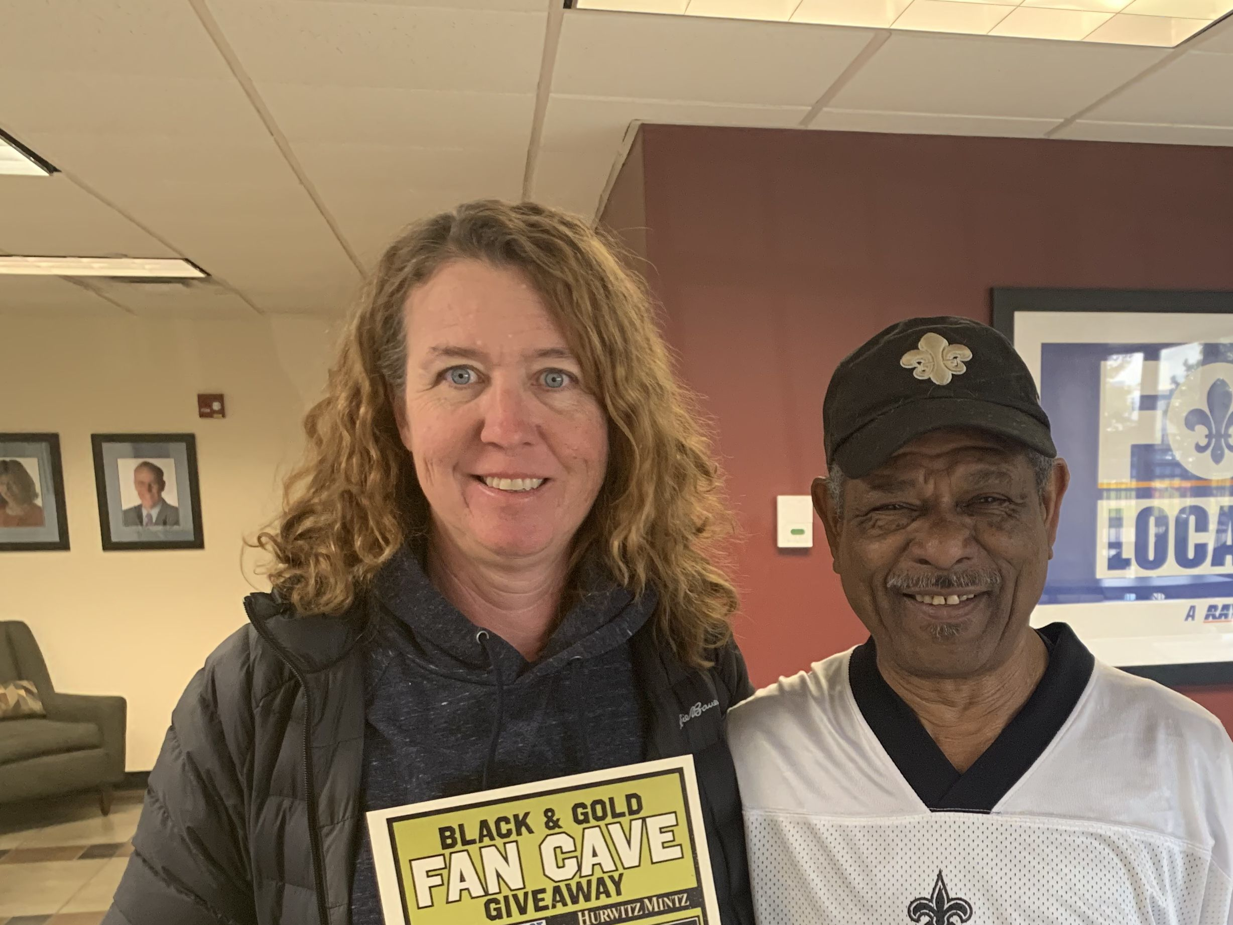 Winner: Hurwitz Mintz New Orleans Saints Fan Cave contest
