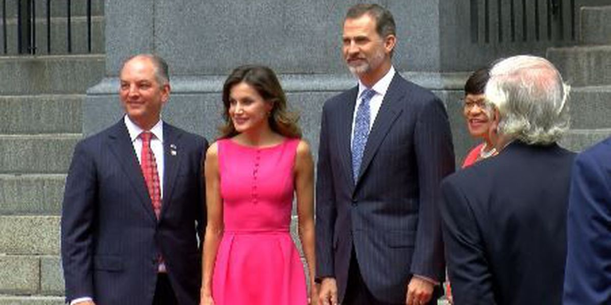 Spanish royalty celebrate city's tricentennial