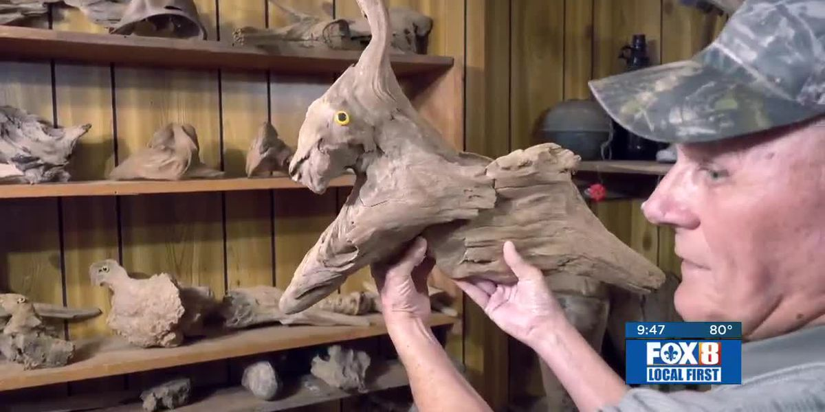 Heart of Louisiana: Driftwood Art