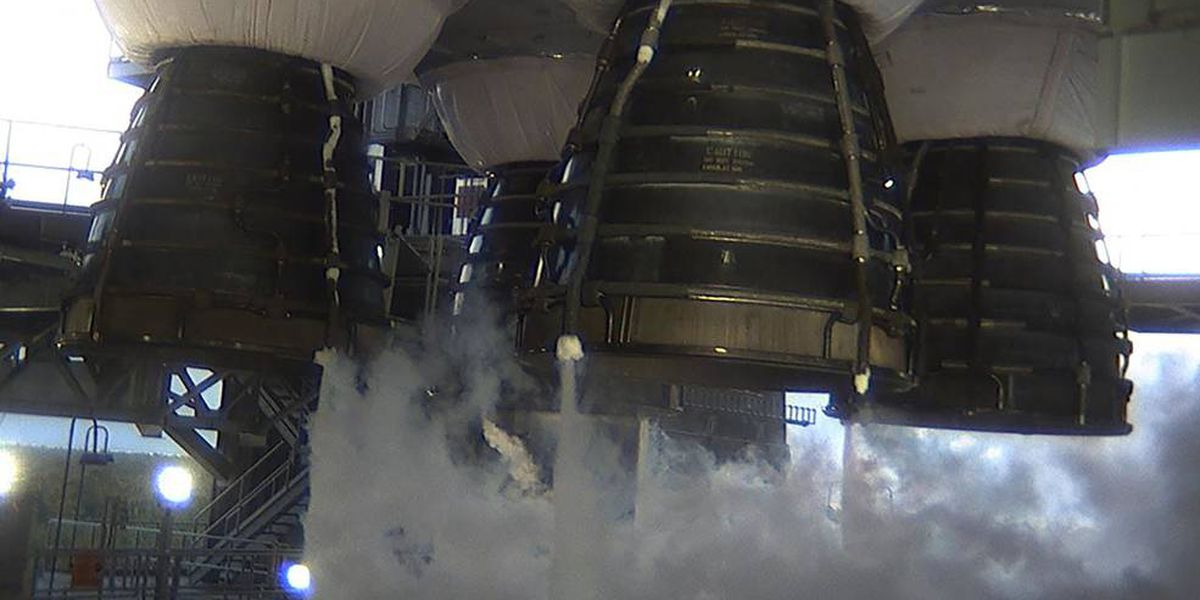 WATCH LIVE: NASA test-fires SLS megarocket for moon missions