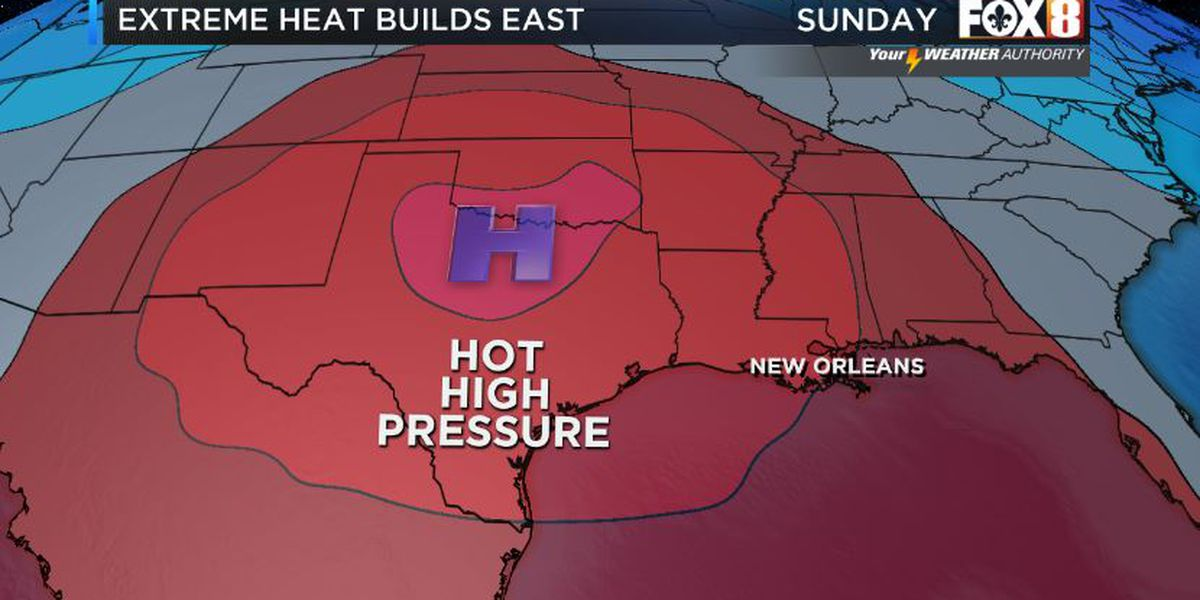 Hot high pressure builds our way