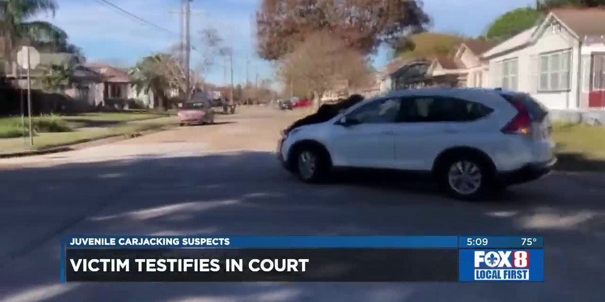 Juvenile suspects in carjacking case appear in court