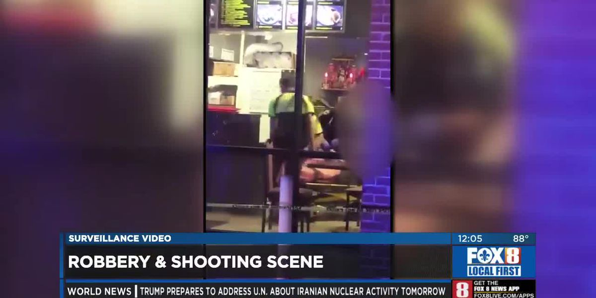 Surveillance video: After math of shooting and robbery