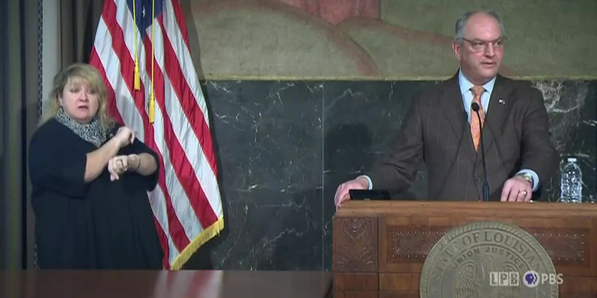 Gov. Edwards, state officials addresses high COVID-19 numbers ahead of Thanksgiving holiday