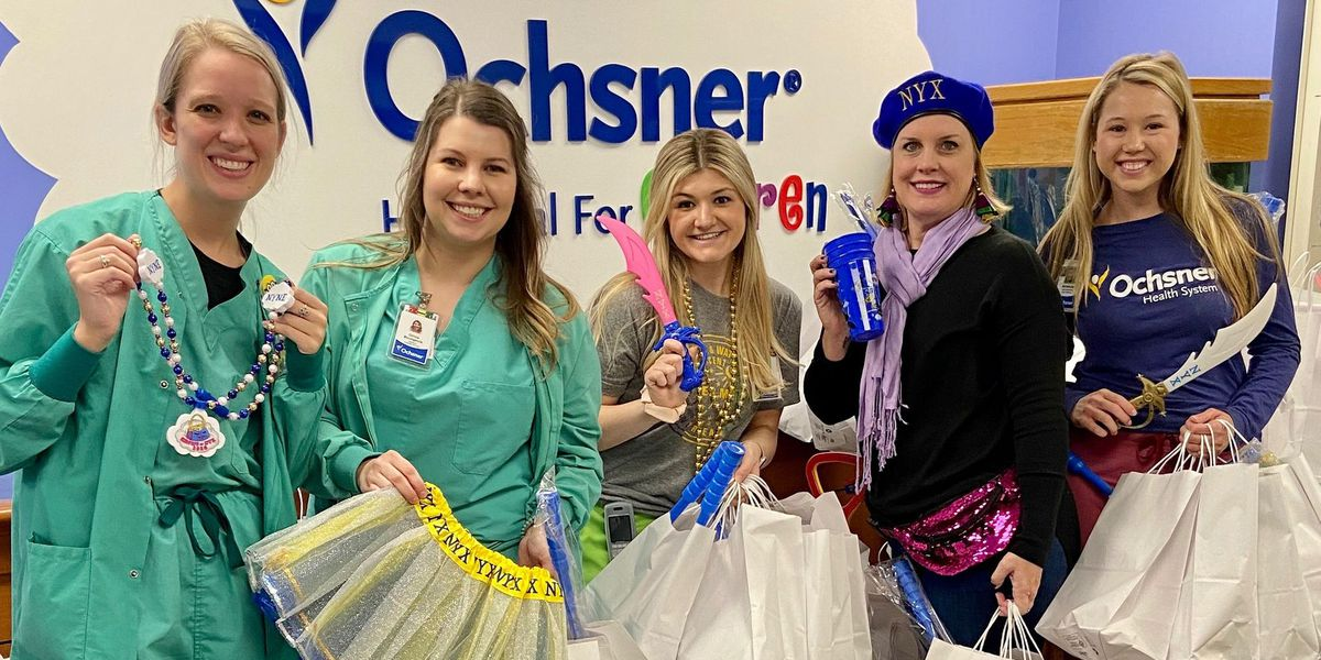 Nyx donates throws to children at Ochsner Hospital
