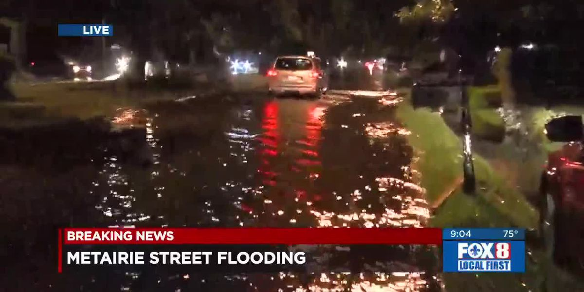 Heavy rains flood area streets Tuesday night