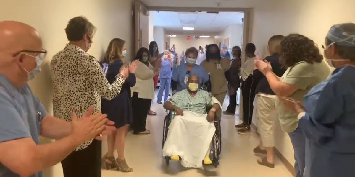 Hospital staff cheers as first intubated COVID-19 patient leaves ICU