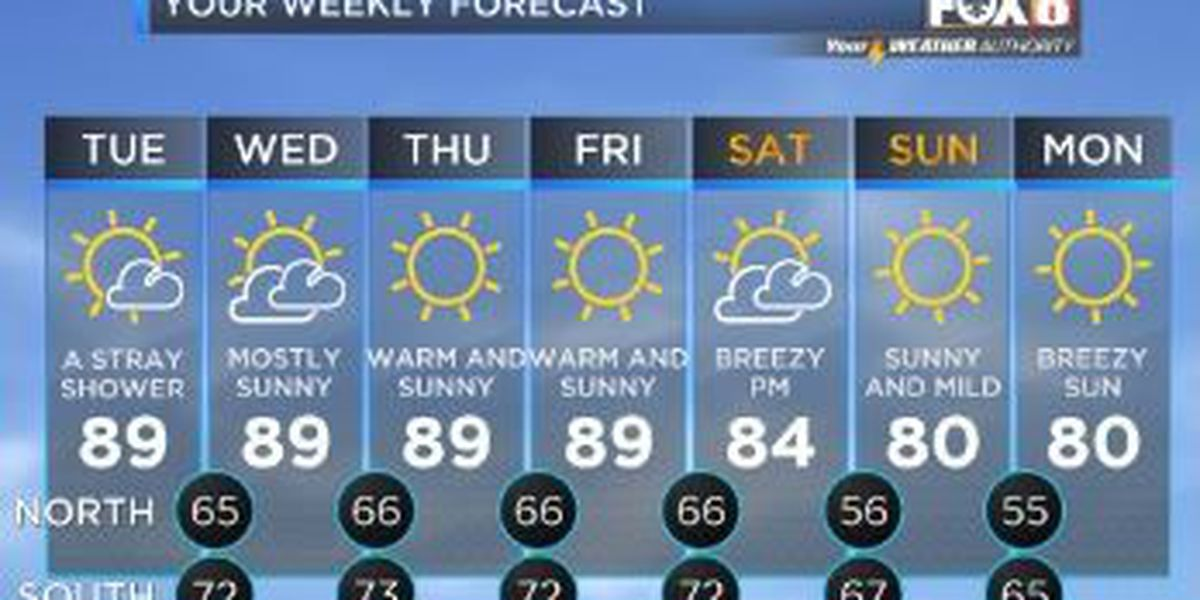 Your Weather Authority: Mild mornings, warm and dry days