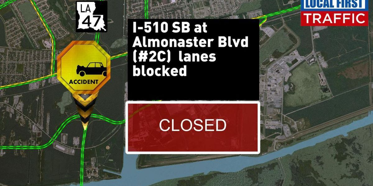 I-510 South at Almonaster cleared after accident