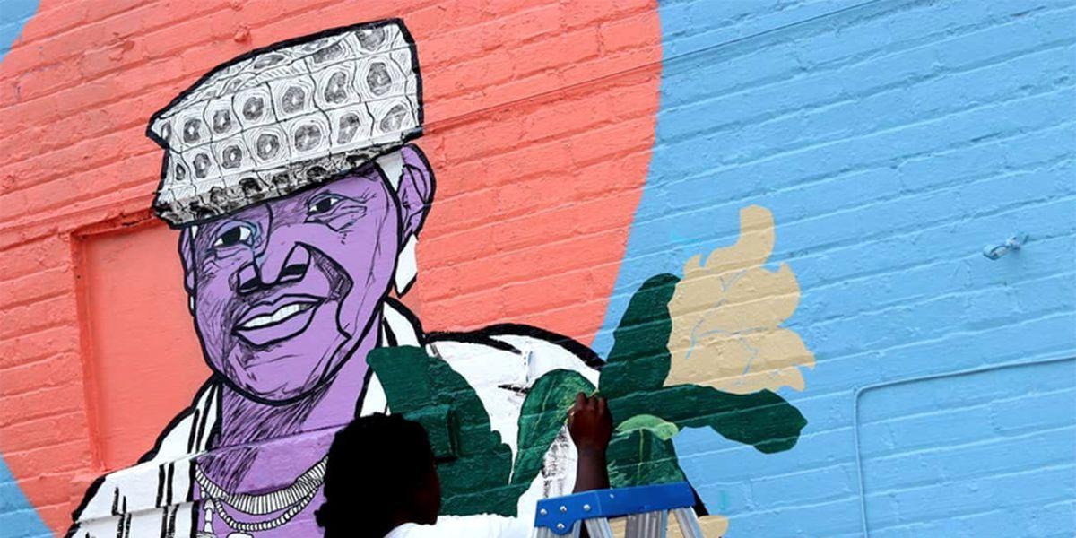 Artist creates tribute mural for community activist Sadie Roberts-Joseph