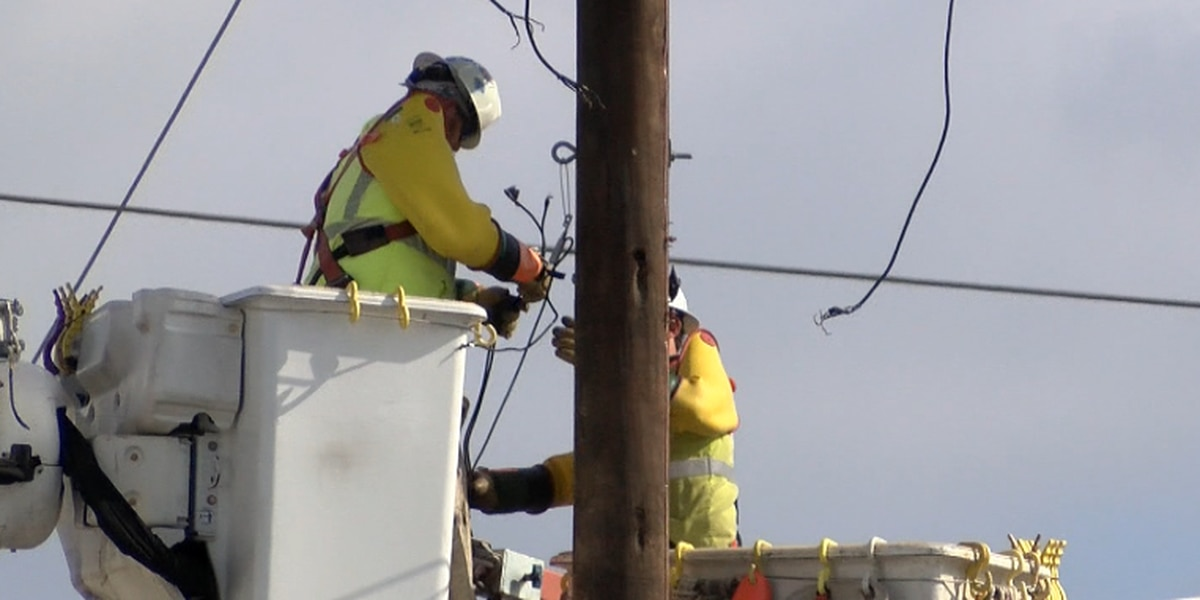 Entergy Louisiana says some customers could see power restored over the weekend