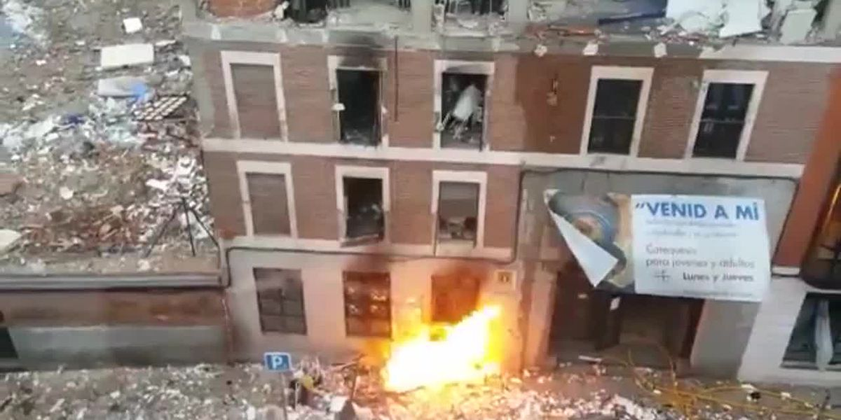 At least three people have been killed in an explosion at a building in the center of Madrid
