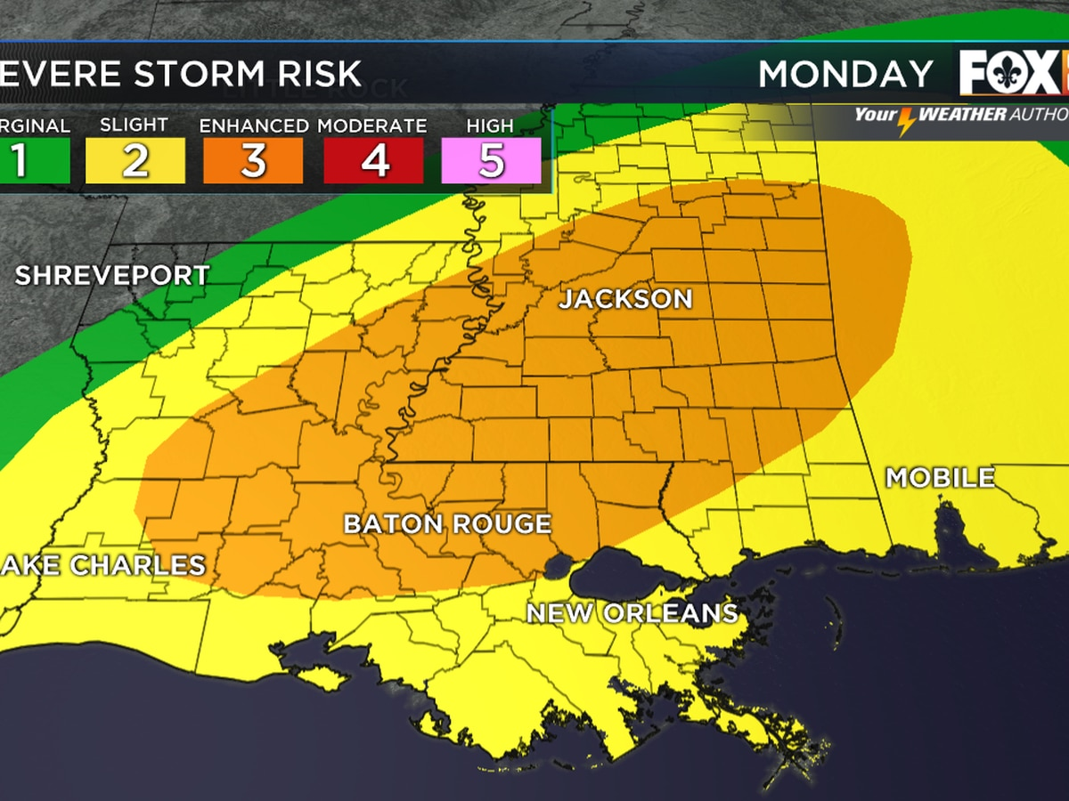 Severe weather threat developing for Monday