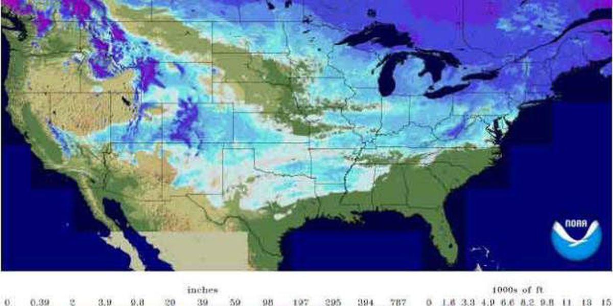 Snow covers the ground in 47 states in the continental U.S. states