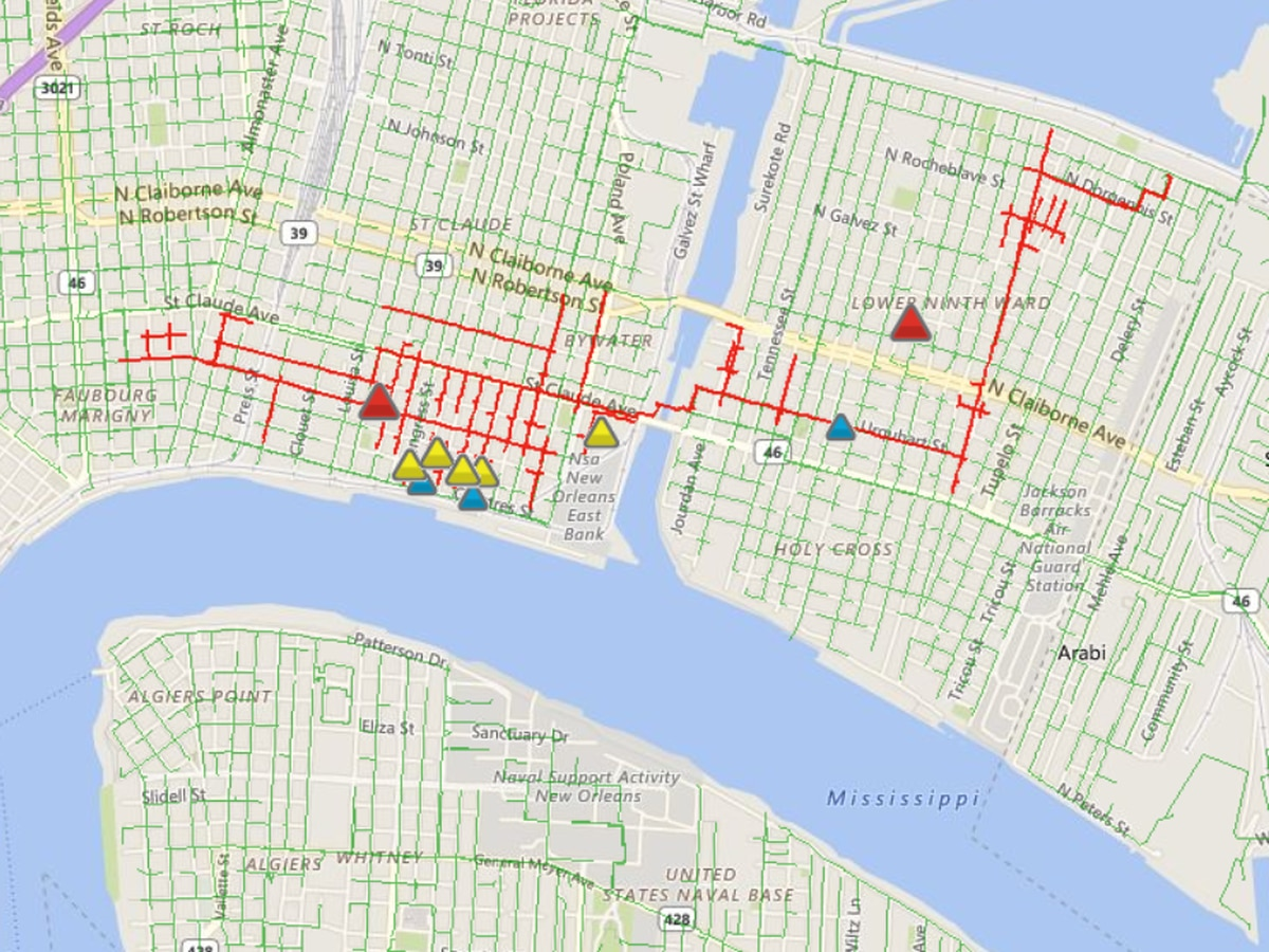 Nearly 2,000 without power in Bywater, Ninth Ward