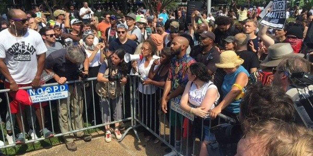 Take Em' Down Nola gathers at Jackson Square to protest statue