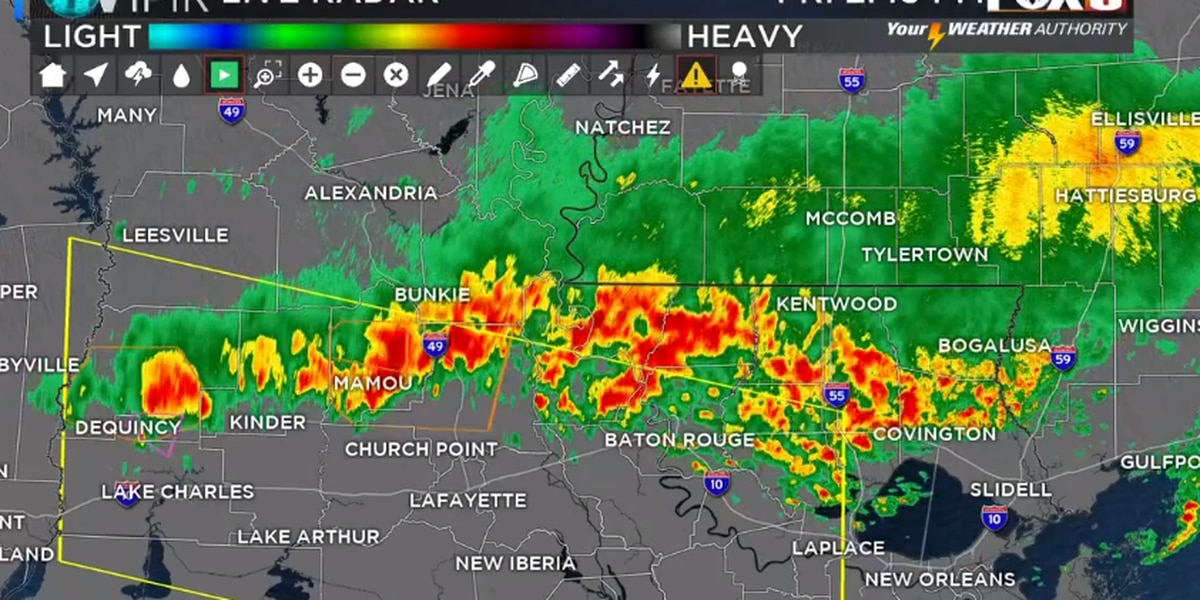 Bruce: Severe Thunderstorm Watch For Outlying Parishes Southwest Of New Orleans