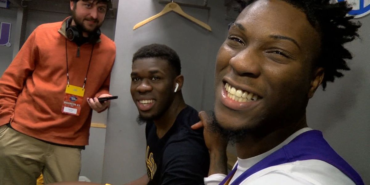 LSU basketball enjoying their march to Minnesota