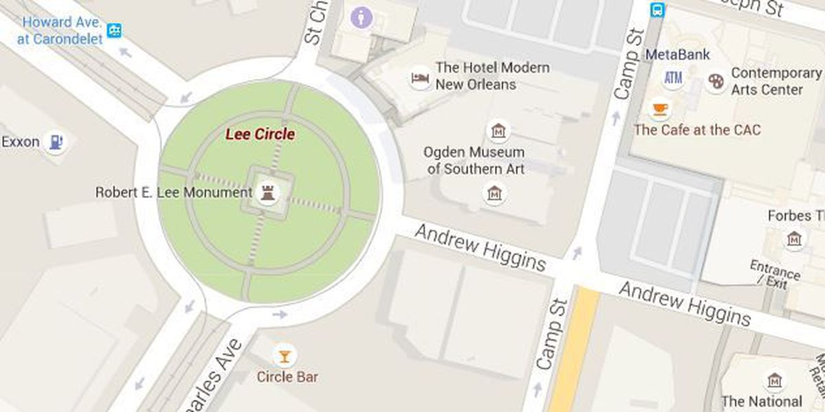 Lee Circle cyclist among three Thursday armed robbery victims