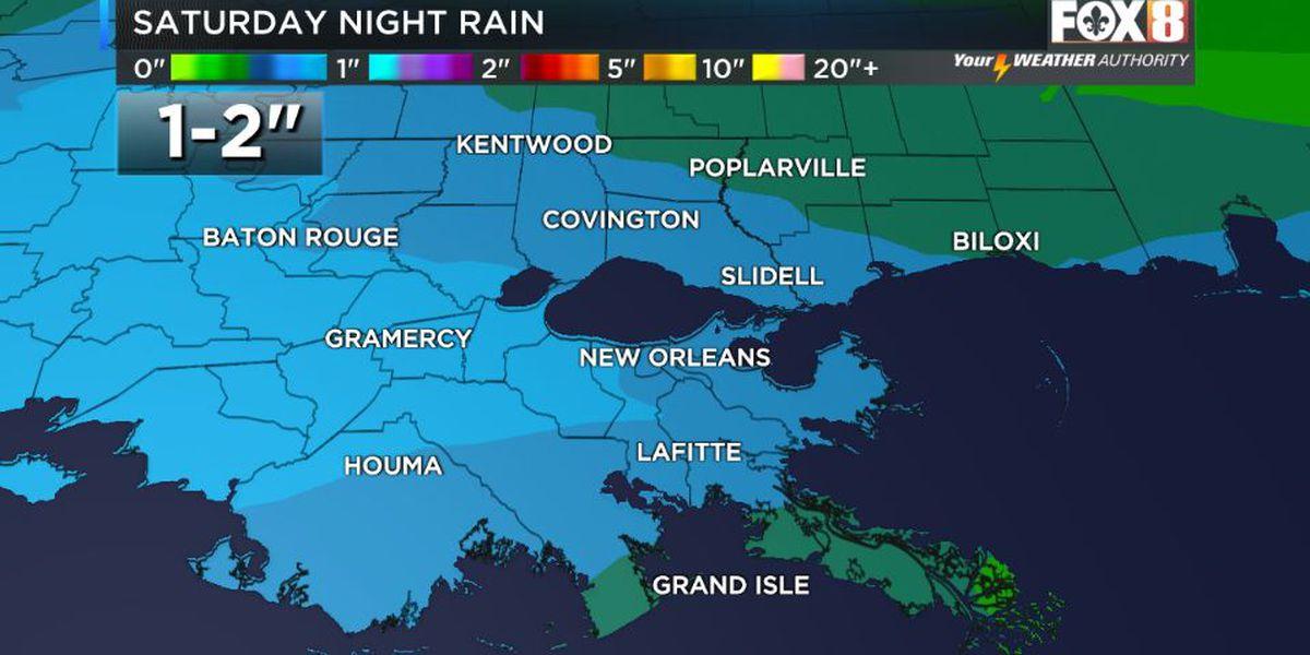 Weekend rain expected