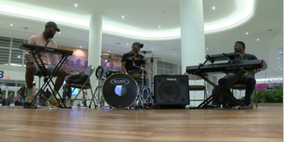 Smooth travels and jazz showcased during a busy day at Armstrong Airport