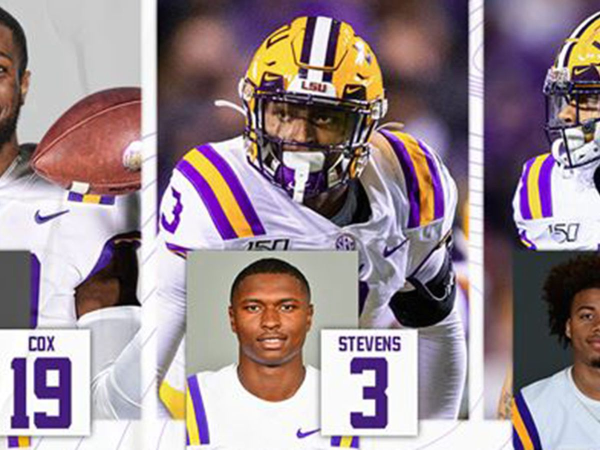 LSU's Cox, Stevens, and Stingley all named to Bednarik Award watch list
