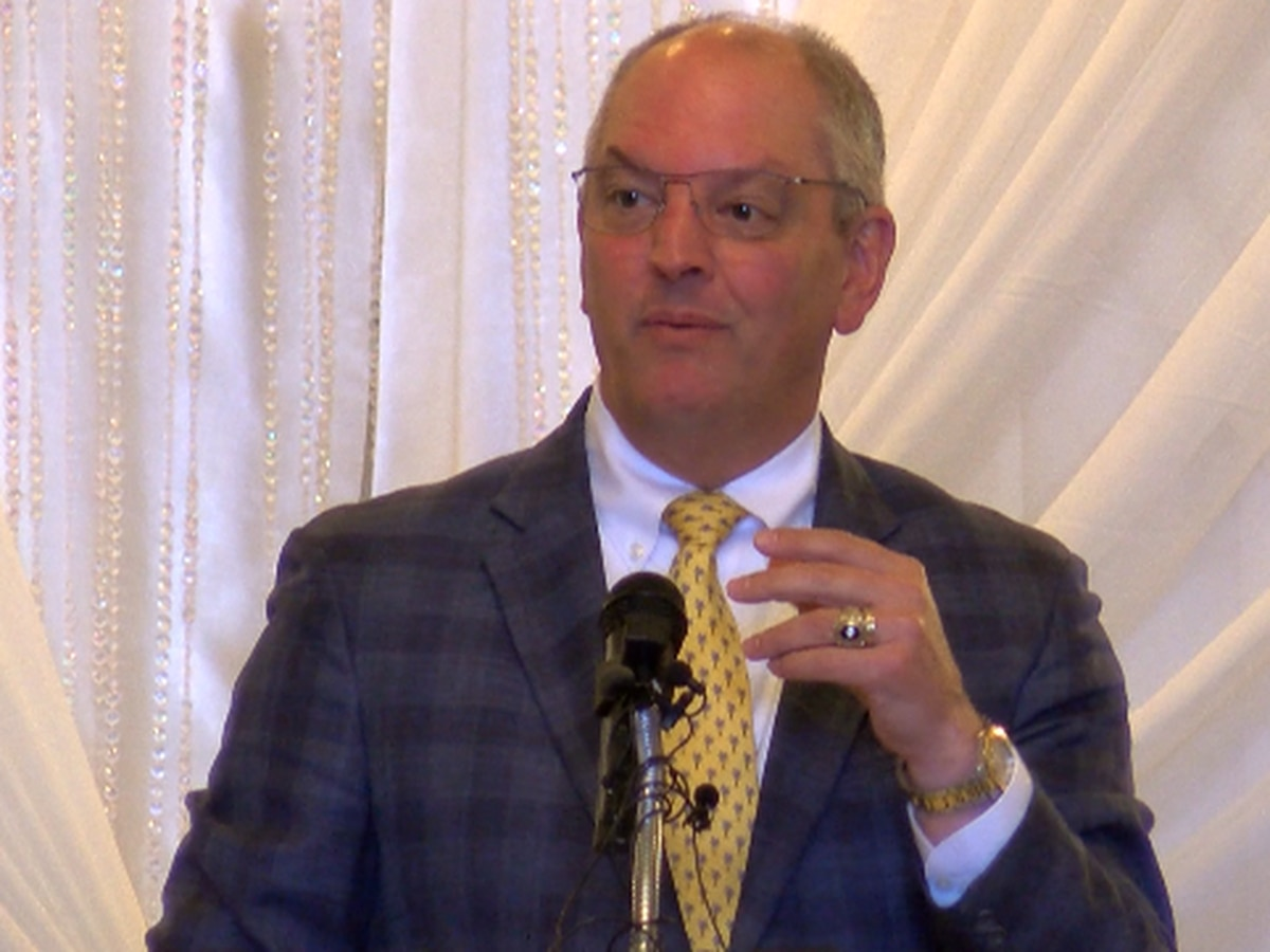 Gov. Edwards to lift mask requirements for state buildings; addresses hundreds of business leaders