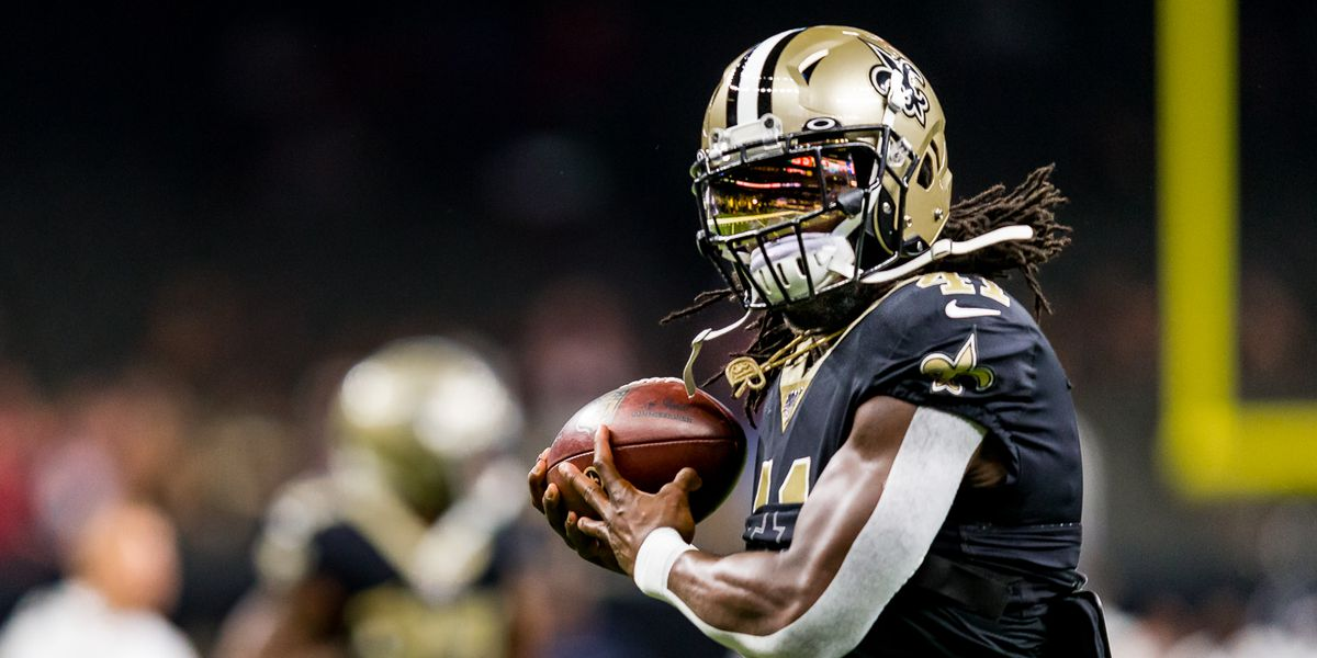 Two TD's by Alvin Kamara give Saints halftime lead over the Bucs