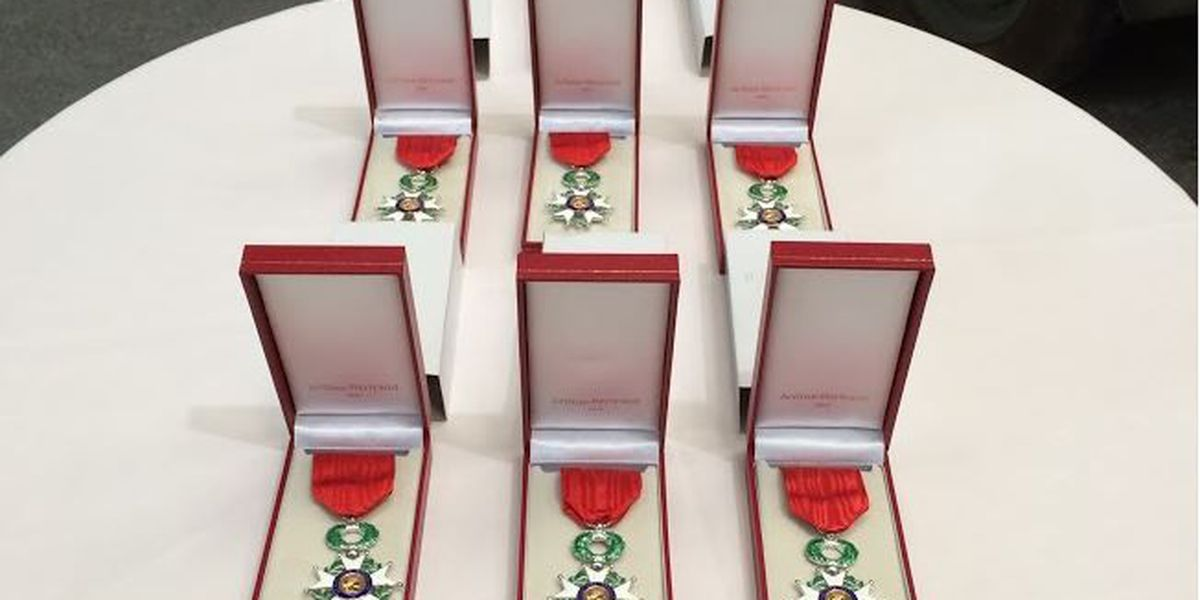 WWII veterans receive French Legion of Honor medals in New Orleans