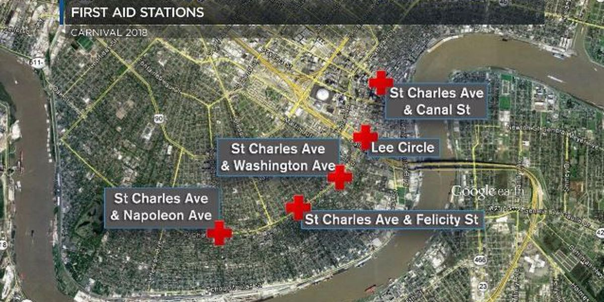 MAP: Where you can get medical attention on the parade routes