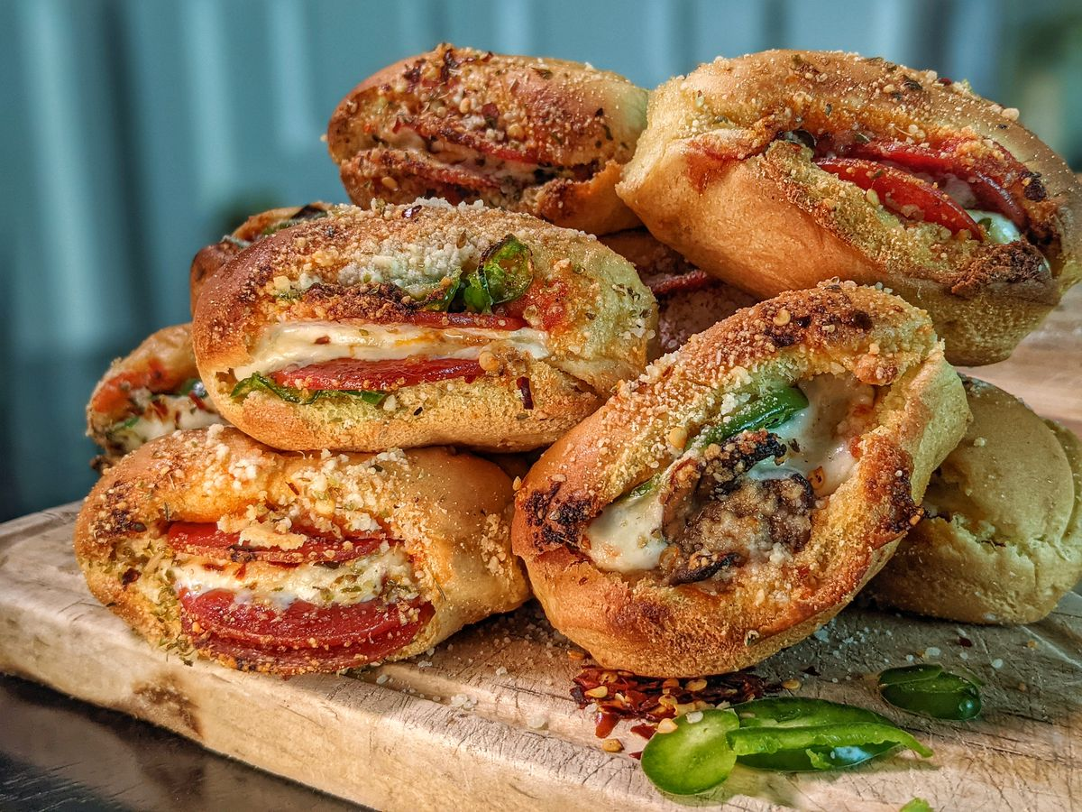 Simple & Delicious Saints Tailgate Pizza Stuffed Garlic Rolls Recipe