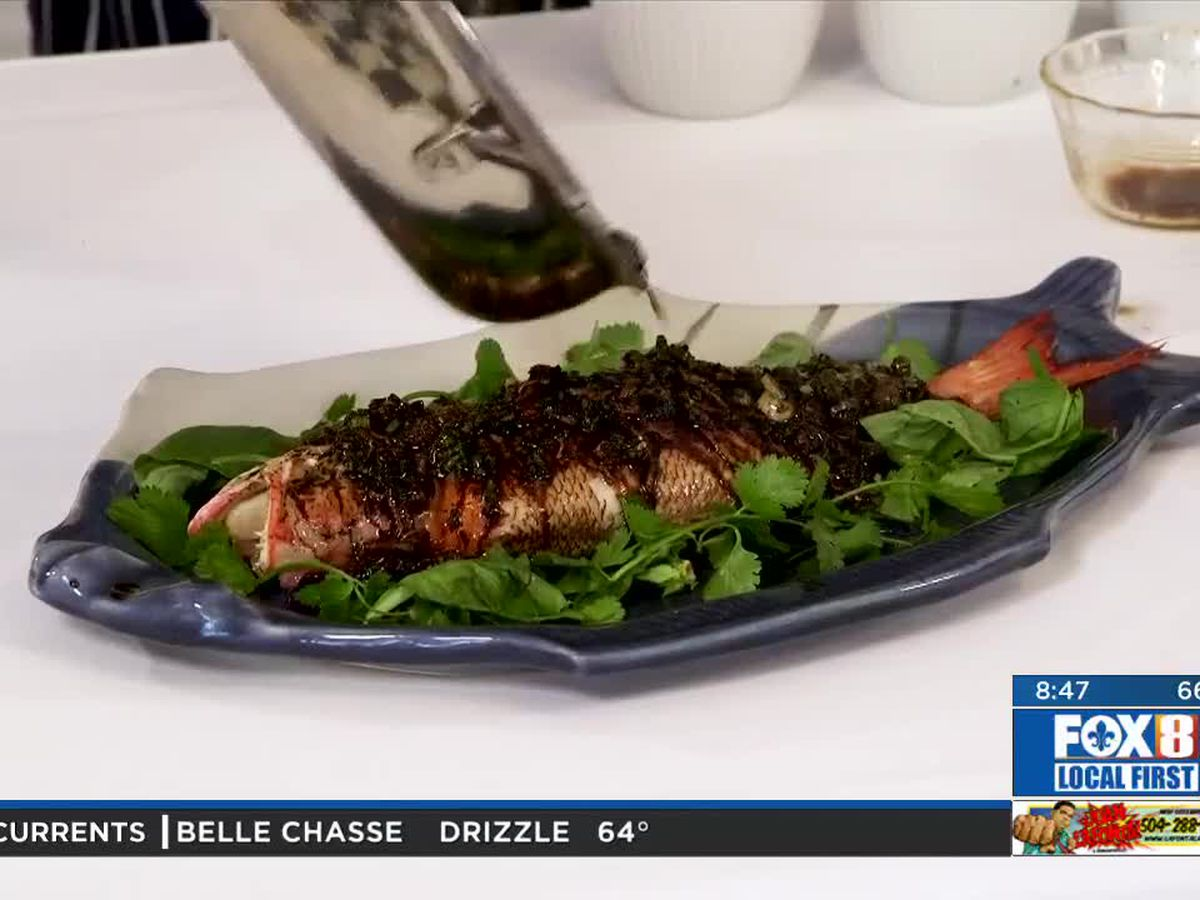 Chef Folse: Steamed whole fish