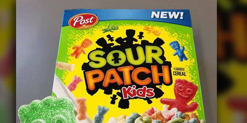 Sour Patch Kids flavored cereal is real and it'll be here next month
