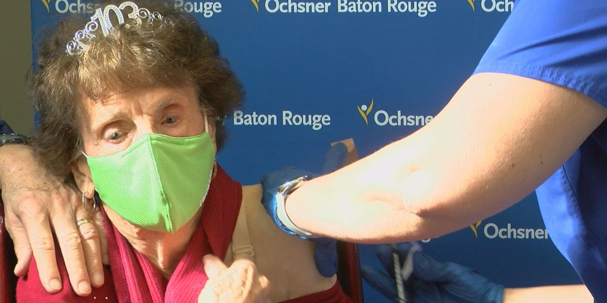103-year-old survivor of Spanish Flu pandemic receives COVID-19 vaccine in Baton Rouge