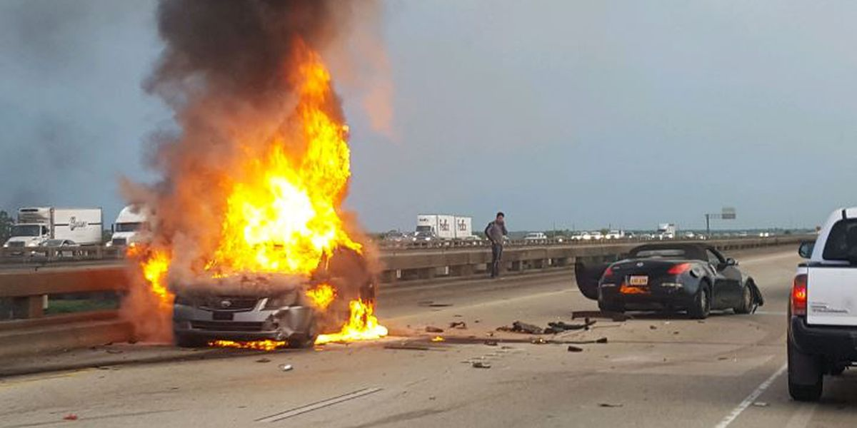 Police: Man driving stolen car caused fiery crash on Spillway