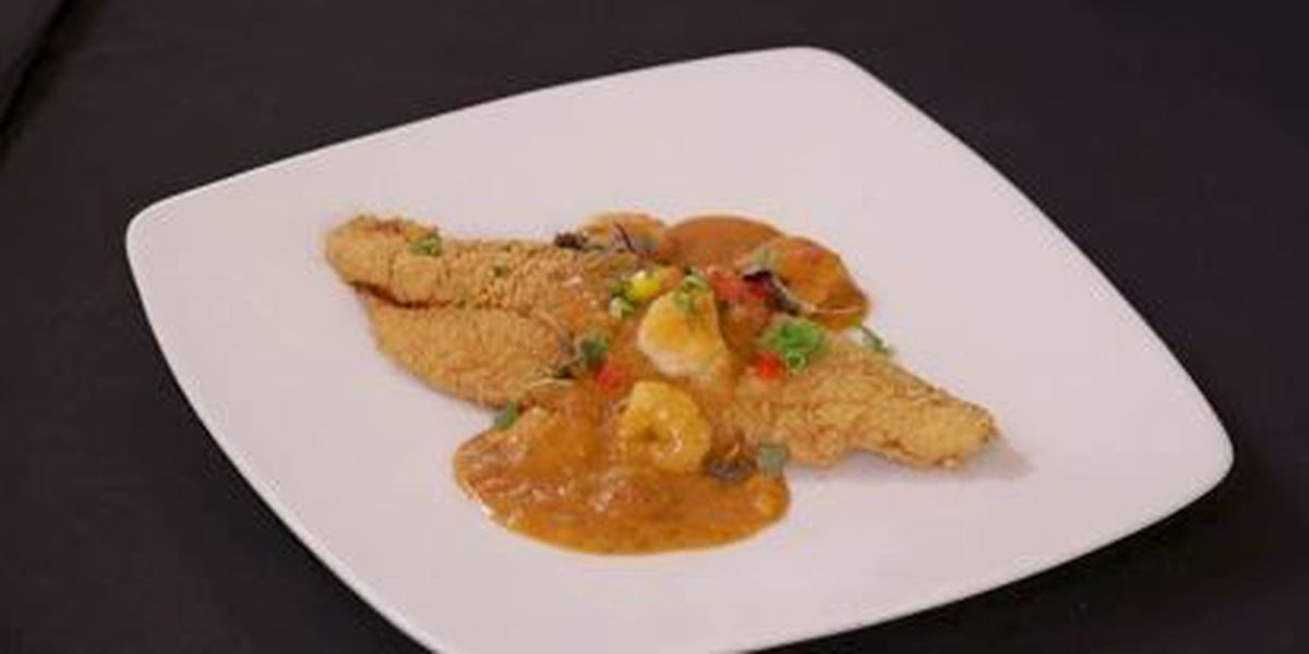 Chef John Folse: Pan-fried catfish with shrimp creole