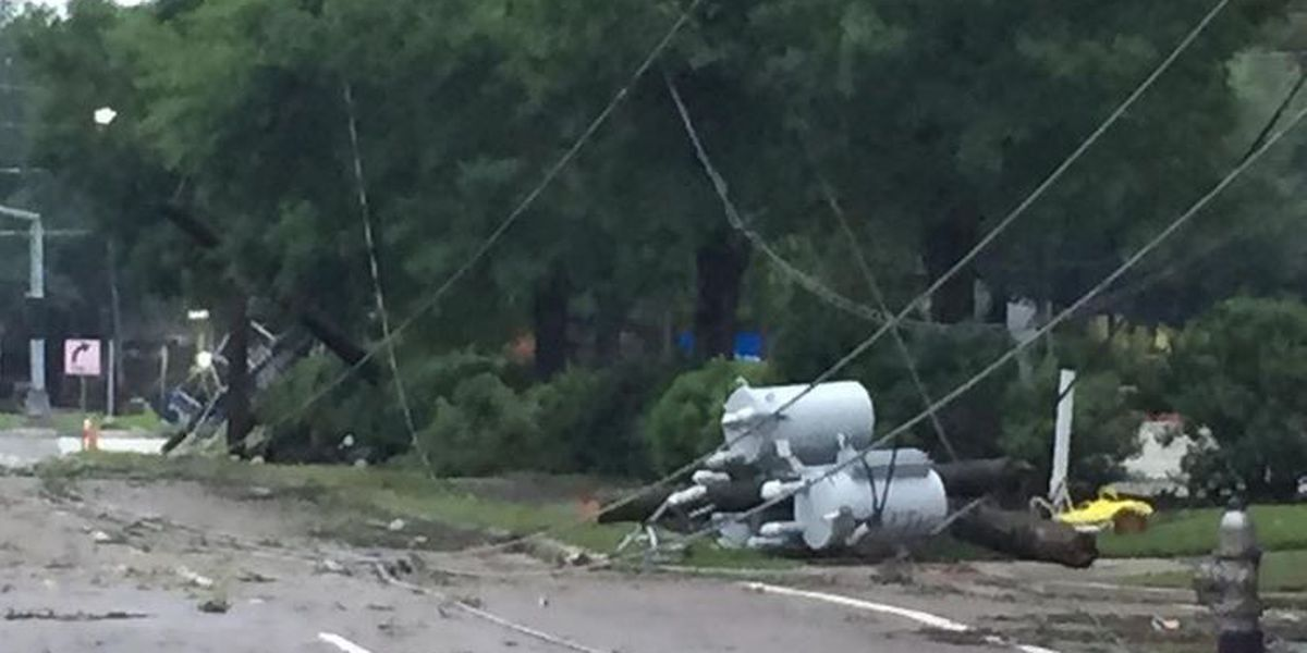 Thousands remain without power Tuesday after Monday morning storm