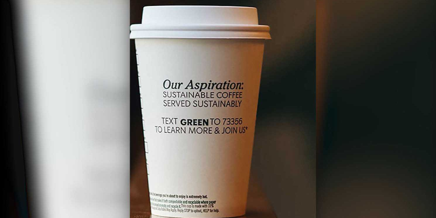 Starbucks going green by testing compostable cups