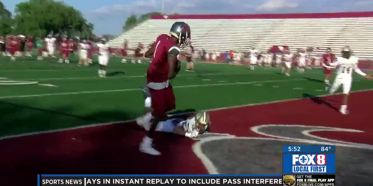Quincy Brown's racks up 3 TD's in Destrehan-Covington spring game