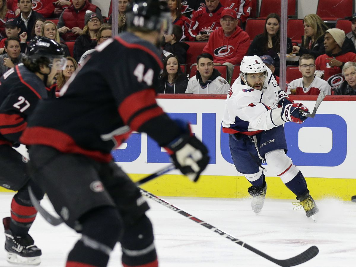 Ovechkin, Vrana lead Caps over Hurricanes 6-5 in shootout