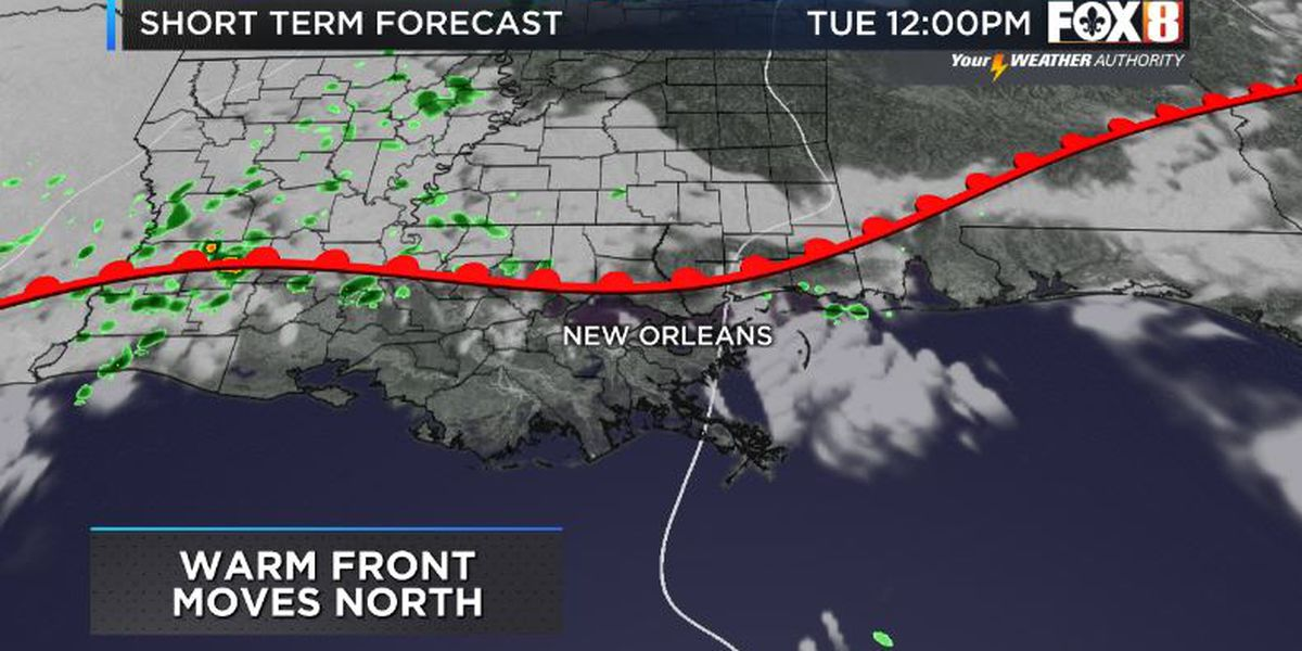 Bruce: Warm Front Today And A Cold Front Tomorrow