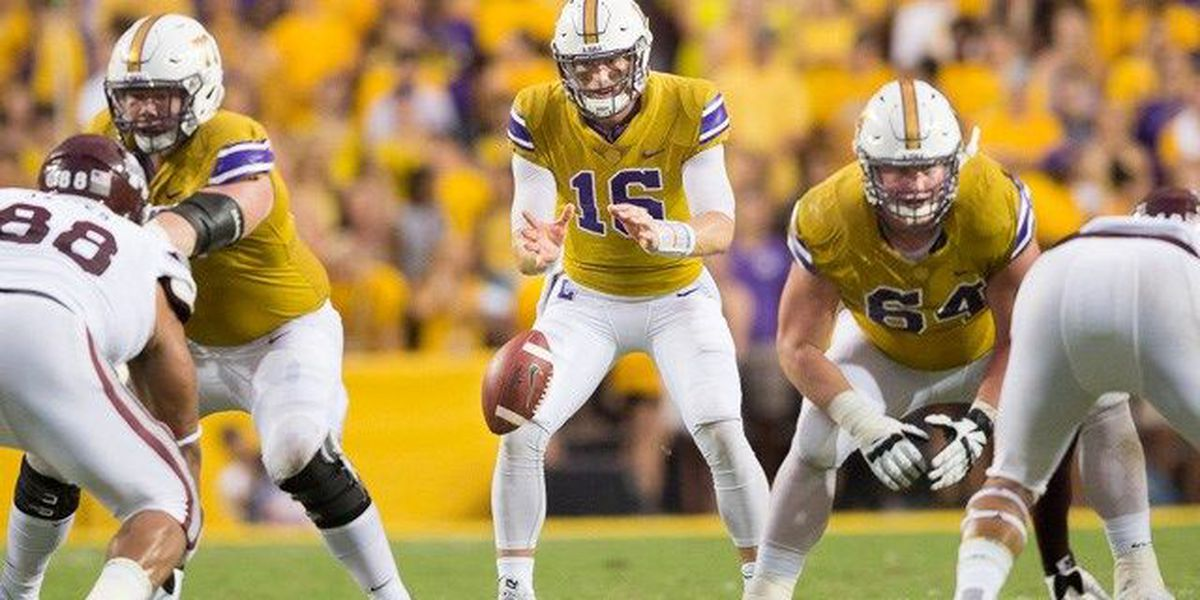 Danny Etling solid in his first start for LSU