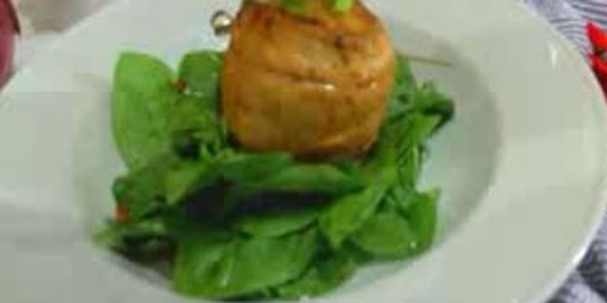 Chef John Folse: Seafood stuffed turban of speckled trout